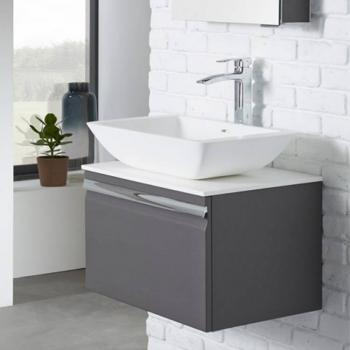 Roper Rhodes Pursuit Charcoal Elm 600mm Vanity Unit & Worktop