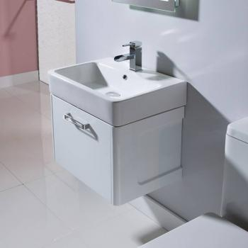 Tavistock Q60 575mm Wall Mounted Gloss White Vanity Unit & Basin