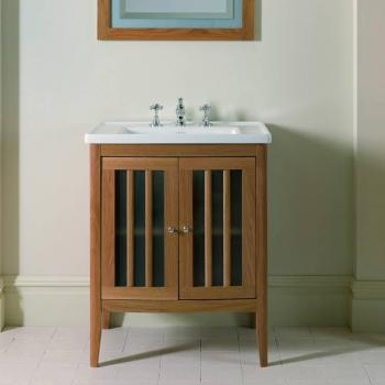 Imperial Radcliffe Linea Vanity Unit & Basin With Frosted Glass Doors