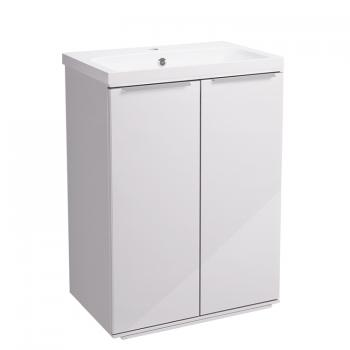 Roper Rhodes Scheme 600mm Gloss White Freestanding Vanity Unit & Basin
