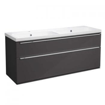 Roper Rhodes Scheme 1200mm Gloss Dark Clay Wall Mounted Vanity Unit & Basin