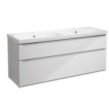 Roper Rhodes Scheme 1200mm Gloss White Wall Mounted Vanity Unit & Basin