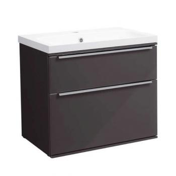 Roper Rhodes Scheme 600mm Gloss Dark Clay Wall Mounted Vanity Unit & Basin
