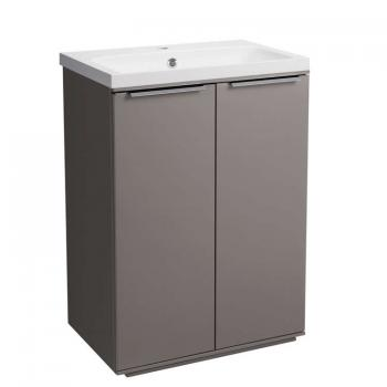 Roper Rhodes Scheme 600mm Matt Light Clay Freestanding Unit & Basin