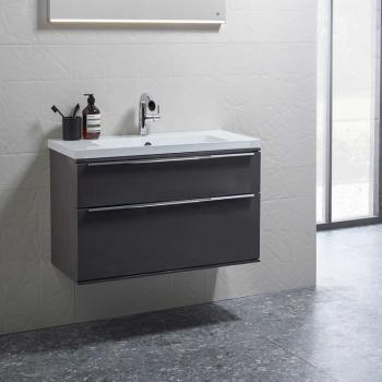 Roper Rhodes Scheme 600mm Matt Carbon Wall Mounted Vanity Unit & Basin