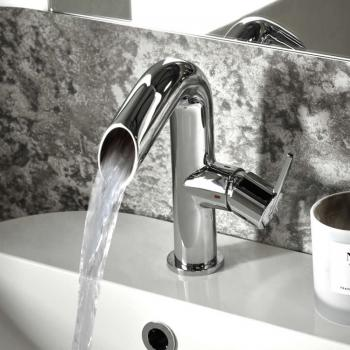 Roper Rhodes Scope Open Spout Basin Mixer With Click Waste