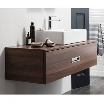 Bauhaus Seattle 100 Walnut Single Drawer Console Unit