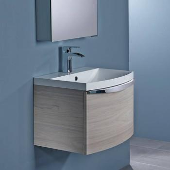 Roper Rhodes Serif 600mm Light Elm Wall Mounted Vanity Unit & Basin