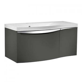 Roper Rhodes Serif 900mm Gloss Dark Clay Wall Mounted Vanity Unit & Basin