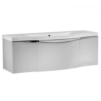 Roper Rhodes Serif 1200mm Gloss Light Grey Wall Mounted Vanity Unit & Basin