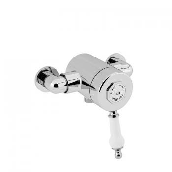 Heritage Glastonbury Single Control Exposed Shower Valve - Bottom Outlet