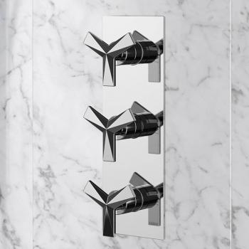 Heritage Hemsby Recessed Triple Thermostatic Shower Valve