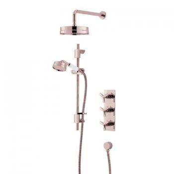 Heritage Hemsby Rose Gold Shower With Deluxe Fixed Head & Flexible Kit