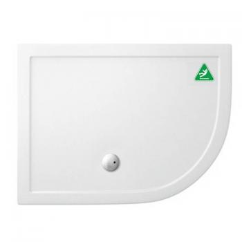 Simpsons 1200 x 900mm Offset Quadrant 35mm Anti-Slip Shower Tray