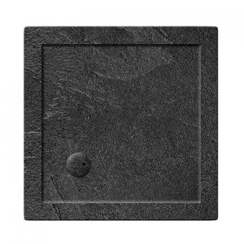 Simpsons 800 x 800mm Square 35mm Grey Slate Acrylic Shower Tray