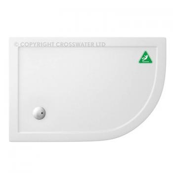 Simpsons 900 x 760mm Offset Quadrant 35mm Anti-Slip Shower Tray