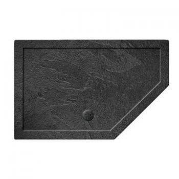 Simpsons 1400 x 900mm Pentangle 35mm Grey Slate Shower Tray