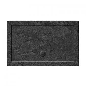 Simpsons 1000 x 800mm Grey Slate Effect Rectangle 35mm Shower Tray