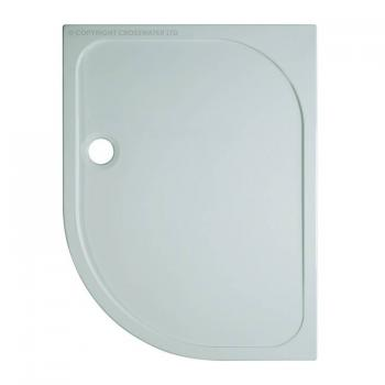 Simpsons 1000 x 800mm 45mm Quadrant Stone Resin Shower Tray - Right Hand