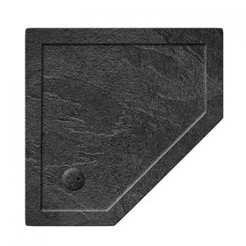 Simpsons 900 x 900mm Pentangle 35mm Grey Slate Effect Shower Tray