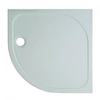Simpsons 800 x 800mm 45mm Quadrant Stone Resin Shower Tray & Waste