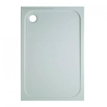 Simpsons 1000 x 800mm 45mm Rectangle Stone Resin Shower Tray & Waste