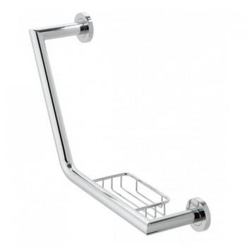 Vado Spa Angled Grab Rail With Basket