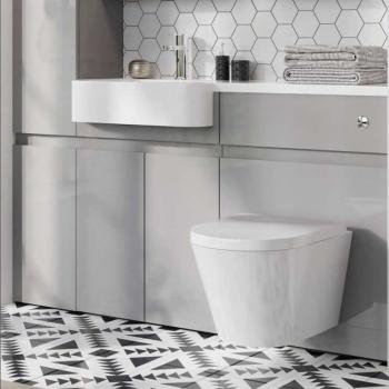 Britton Sphere Rimless Wall Hung WC & Soft Close Seat