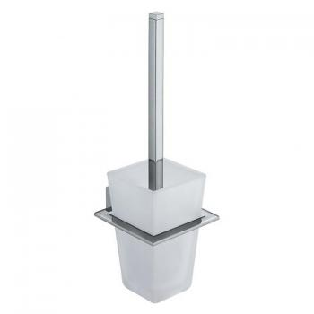 Vado Square Toilet Brush & Frosted Glass Holder