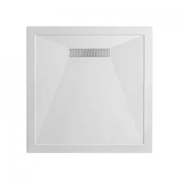 Simpsons 900 x 900mm Square 25mm Stone Resin Shower Tray & Linear Waste