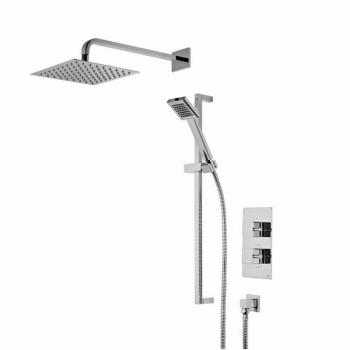 Roper Rhodes Event Square Dual Function Shower System With Stainless Steel Head