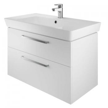 The White Space Scene 800mm White Gloss Wall Hung Vanity Unit & Basin