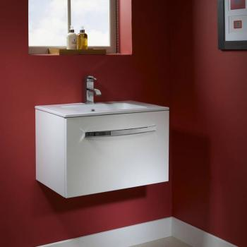 Tavistock Swift Gloss White 600mm Wall Mounted Unit & Basin
