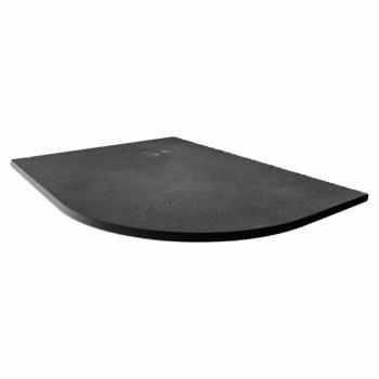 Merlyn Truestone Slate Black 1200 x 900mm Offset Quadrant Shower Tray & Waste