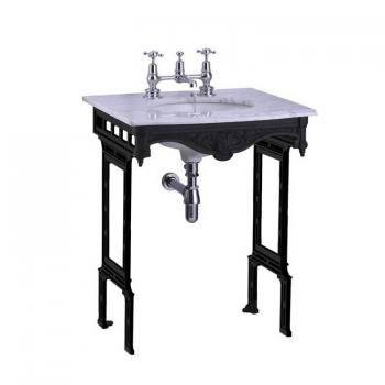 Burlington Sophia Georgian Marble Basin With Black Aluminium Wash Stand
