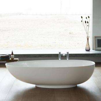 Clearwater Teardrop Petite Clear Stone Freestanding Bath