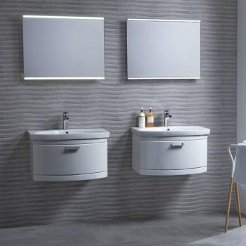 Tavistock Tempo Gloss White 650 Wall Mounted Unit & Basin