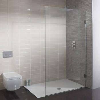 Simpsons Ten Single Fixed Walk In Glass Shower Panel