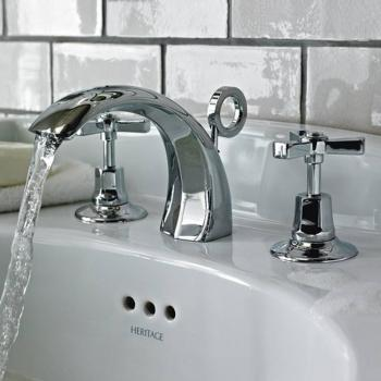 Heritage Gracechurch 3 Tap Hole Basin Mixer