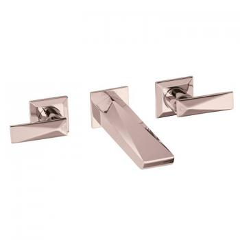 Heritage Hemsby Rose Gold Wall Mounted Basin Mixer