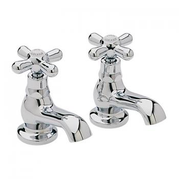 Heritage Ryde Chrome Bath Pillar Taps