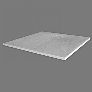Merlyn Truestone White 900 x 900mm Square Shower Tray & Waste
