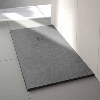 Merlyn Truestone Fossil Grey 1000 x 800mm Rectangle Shower Tray & Waste