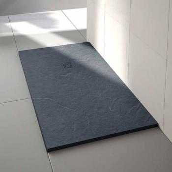 Merlyn Truestone Slate Black 1000 x 800mm Rectangle Shower Tray & Waste