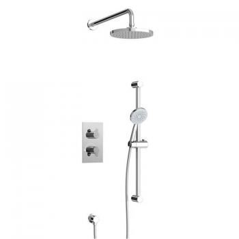 Britton Concealed Dual Outlet Thermostatic Shower Valve Kit