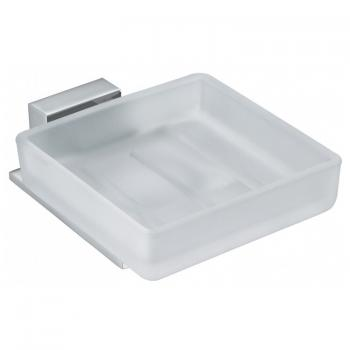 Vado Square Frosted Glass Soap Dish & Holder