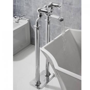 Crosswater Waldorf Chrome Crosshead Floorstanding Bath Filler