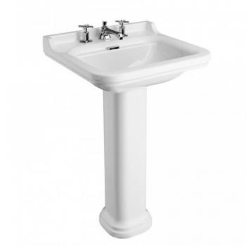 Bauhaus Waldorf 60 Three Tap Hole Basin With Pedestal