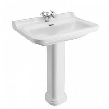 Bauhaus Waldorf 80 Single Tap Hole Basin With Pedestal