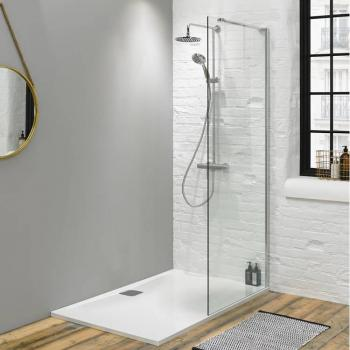 Walk In Shower Wetroom Glass Panel - Size: 700mm